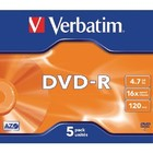 Verbatim DVD 4.7 GB 5 St