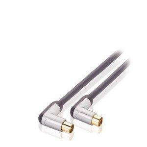 Profigold 120 dB Coaxkabel Haaks Coax Male (IEC) - Coax Female (IEC) 5.00 m Zwart