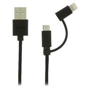 Sweex 2-in-1 Data en Oplaadkabel USB Micro-B Male + Lightningadapter - A Male 1.00 m Zwart