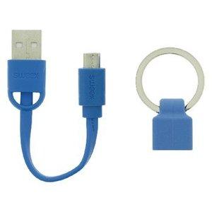 Sweex USB 2.0 Kabel A Male - Micro-B Male Plat 0.06 m Blauw