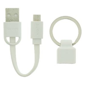 Sweex USB 2.0 Kabel A Male - Micro-B Male Plat 0.06 m Wit