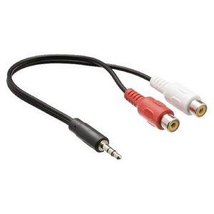 Valueline Stereo Audiokabel 3.5 mm Male - 2x RCA Female 0.20 m Zwart