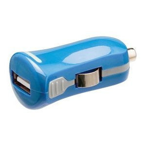 Valueline Autolader 1-Uitgang 2.1 A USB Blauw