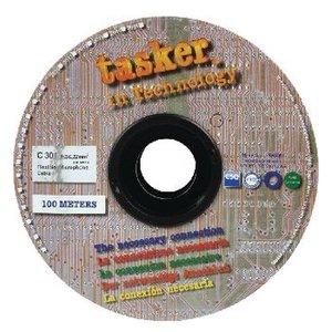 Tasker Microfoonkabel op Haspel 2x 0.22 mm² 100 m Zwart