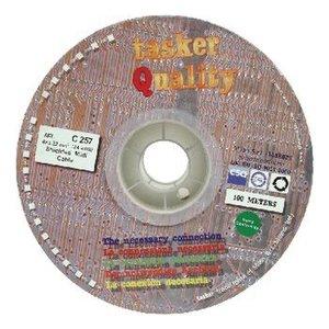 Tasker Microfoonkabel op Haspel 4x 0.22 - 100 m Zwart