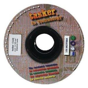 Tasker Microfoonkabel op Haspel 0.25 - 100 m Zwart