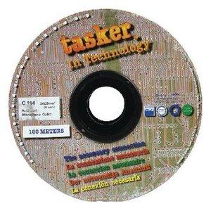 Tasker Microfoonkabel op Haspel 2x 0.25 mm² 100 m Grijs