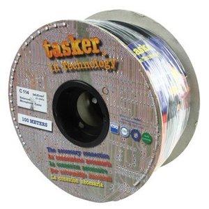 Tasker Microfoonkabel op Haspel 2x 0.25 mm² 100 m Zwart