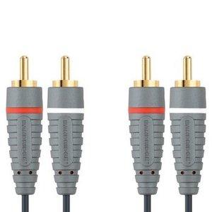 Bandridge Stereo Audiokabel 2x RCA Male - 2x RCA Male 10.0 m Blauw