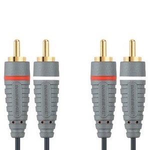 Bandridge Stereo Audiokabel 2x RCA Male - 2x RCA Male 5.00 m Blauw