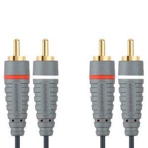 Bandridge Stereo Audiokabel 2x RCA Male - 2x RCA Male 3.00 m Blauw