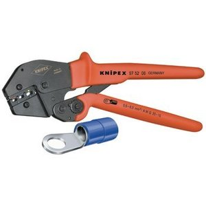 Knipex Crimping pliers Insulated wire terminal + connector 0.5...6 mm²