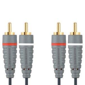 Bandridge Stereo Audiokabel 2x RCA Male - 2x RCA Male 0.50 m Blauw