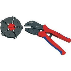 Knipex Crimping pliers with magazine changer Plug connectors, cable lugs, wire end ferrules and butt connectors 0.5...6.0 mm<sup>2</sup> 0.5...6 mm²