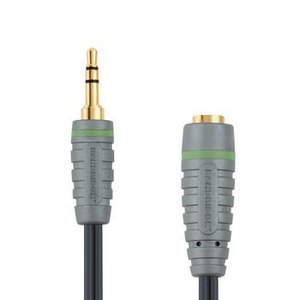 Bandridge Stereo Audio Verlengkabel 3.5 mm Male - 3.5 mm Female 3.00 m Blauw