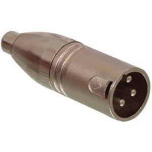 Valueline XLR Adapter XLR 3-Pins Male - RCA Female Zilver
