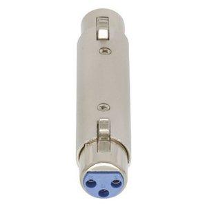 Valueline XLR Adapter XLR 3-Pins Female - XLR 3-Pins Female Zilver