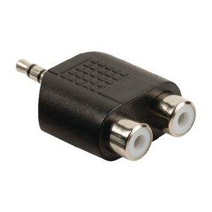 Valueline Stereo Audio Adapter 3.5 mm Male - 2x RCA Female Zwart