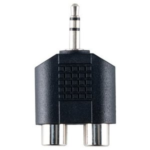 Bandridge Stereo Audio Adapter 3.5 mm Male - 2x RCA Female Zwart