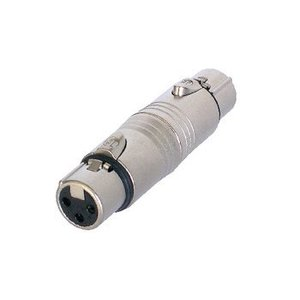 Neutrik XLR Adapter XLR 3-Pins Female - XLR 3-Pins Female Zilver