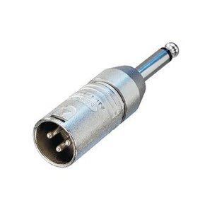 Neutrik XLR Adapter XLR 3-Pins Male - 6.35 mm Male Zilver