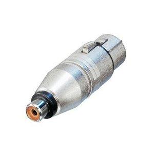 Neutrik XLR Adapter XLR 3-Pins Female - RCA Female Zilver