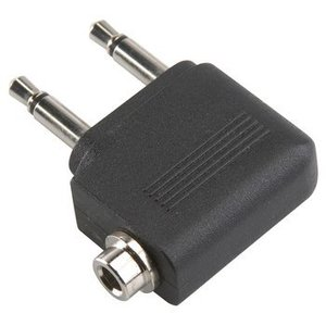 Bandridge Stereo Audio Adapter 90° Haaks 2x 3.5 mm Male - 3.5 mm Female Zwart