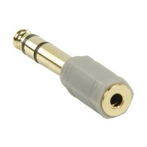 Bandridge Stereo Audio Adapter 6.35 mm Male - 3.5 mm Female Grijs