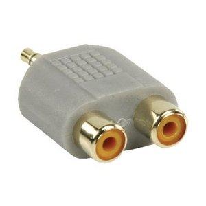Bandridge Stereo Audio Adapter 3.5 mm Male - 2x RCA Female Grijs