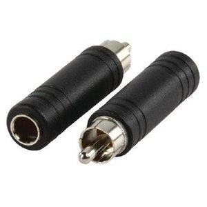 Valueline Mono Audio Adapter RCA Male - 6.35 mm Female Zwart