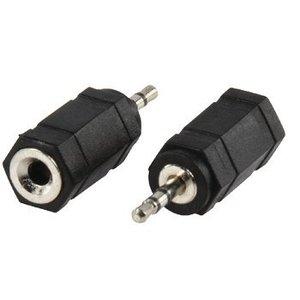 Valueline Stereo Audio Adapter 2.5 mm Male - 3.5 mm Female Zwart