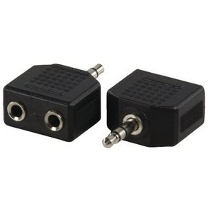 Valueline Stereo Audio Adapter 3.5 mm Male - 2x 3.5 mm Female Zwart