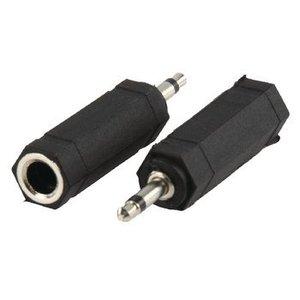 Valueline Mono Audio Adapter 3.5 mm Male - 6.35 mm Female Zwart