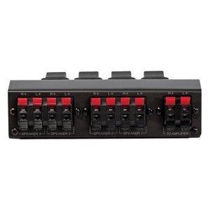 Valueline Analoge Audio Schakelaar 4x (2x Clip Female) - 2x Clip Female Zwart