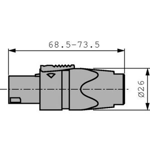 Neutrik Cable socket, Speakon Wit 4P
