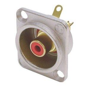 Neutrik Connector RCA Male Metaal Rood