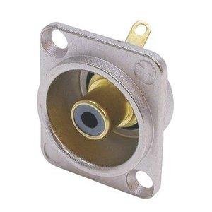 Neutrik Connector RCA Male Metaal Zwart