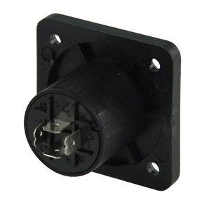 Valueline Connector Speaker 4-Pin Female PVC Zwart