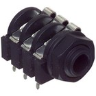 Neutrik Stereoconnector 6.35 mm Female PVC Zwart