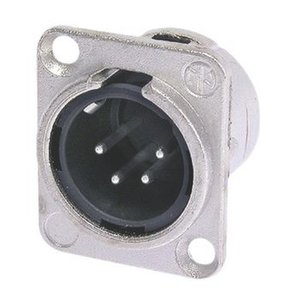 Neutrik Connector XLR Male Metaal Zilver
