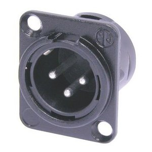 Neutrik Connector XLR Male Metaal Zwart