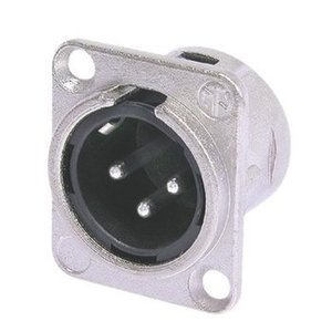 Neutrik Connector XLR Male Metaal Zilver