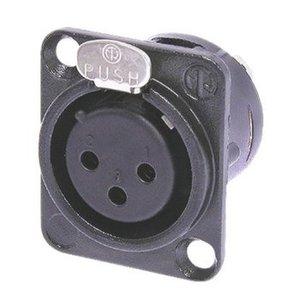 Neutrik Connector XLR Female PVC Zwart
