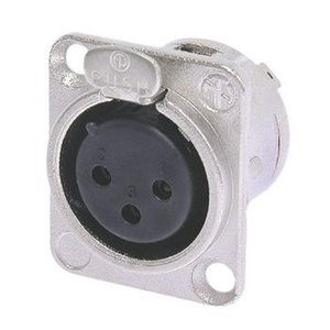 Neutrik Connector XLR Female Metaal Zilver