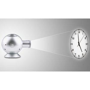 Balance Projectie Klok 14 cm Analoog Zilver
