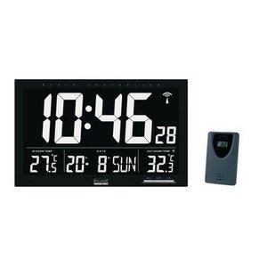Balance Zendergestuurde Wandklok LCD Zwart