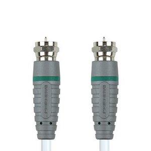 Bandridge Antennekabel F-Male - F-Male 2.00 m Wit