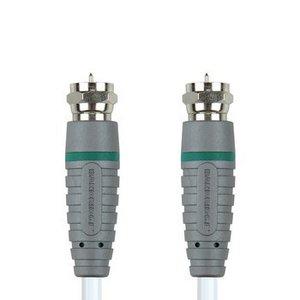 Bandridge Antennekabel F-Male - F-Male 0.50 m Wit