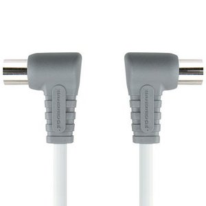 Bandridge 100 dB Coaxkabel Haaks Coax Male (IEC) - Coax Female (IEC) 2.00 m Wit