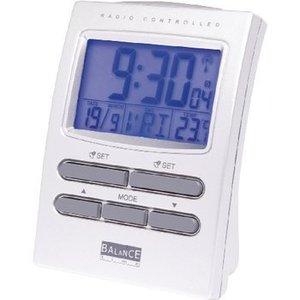 Balance Zendergestuurde Wekker LCD-Kleurenscherm Zilver